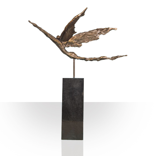 Luxury gifts of Artihove - Sculpture With the proper goal in sight on wings of gold - 015539MSLQ - 015539MSLQ