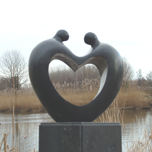 Luxury gifts of Artihove - Sculpture Have heart for each other - 015606MSB - 015606MSB